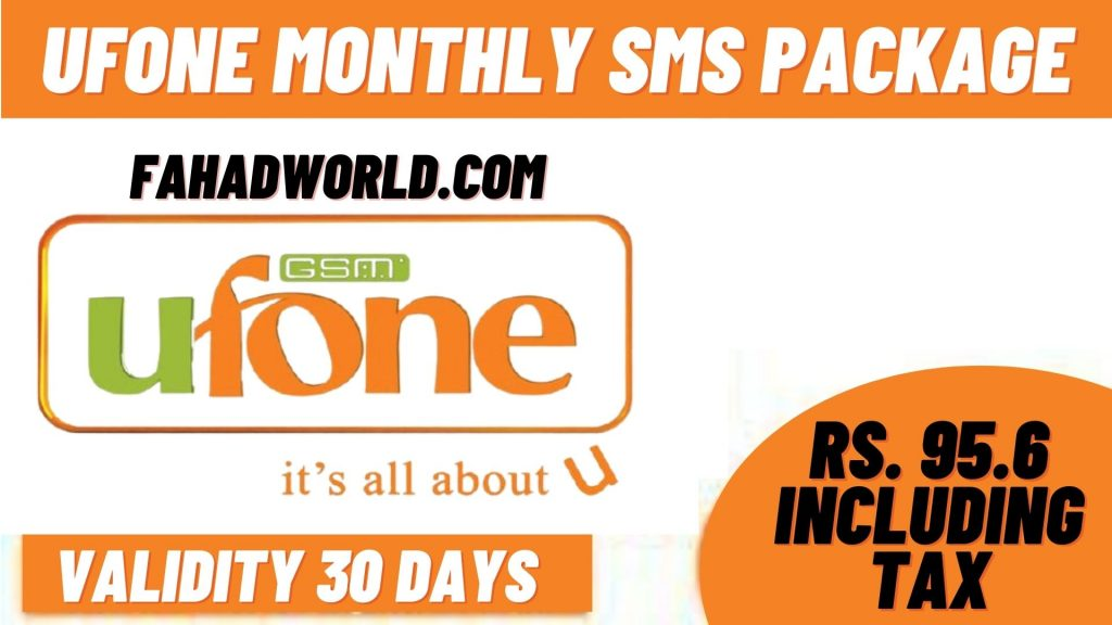 Ufone Monthyl SMS Package