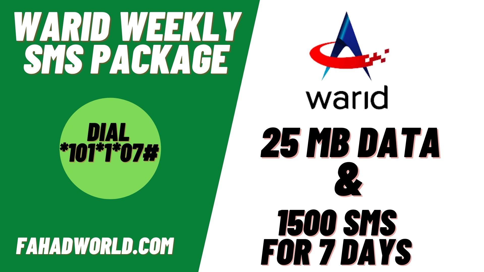 warid weekly sms package