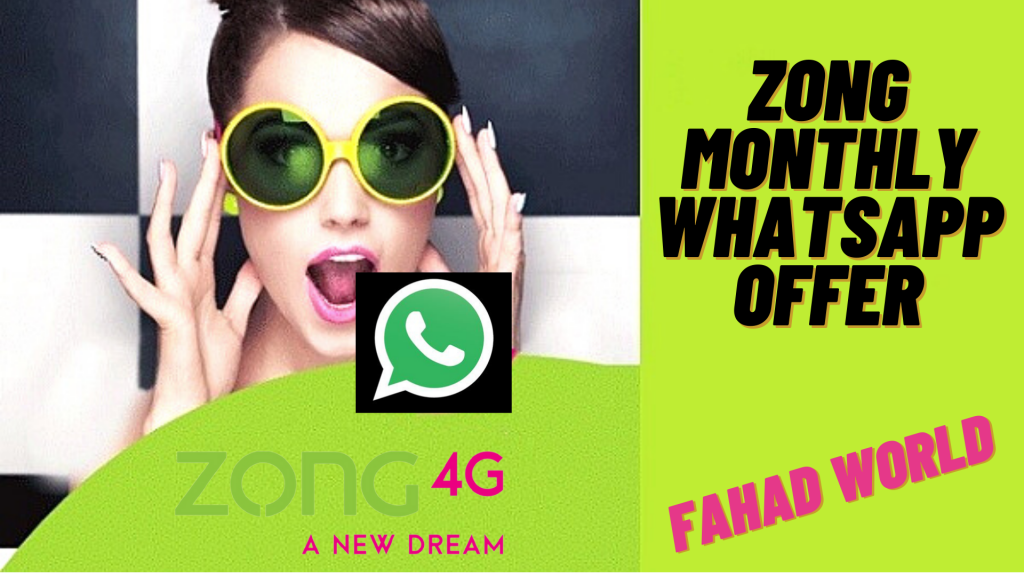 zong monthly whatsapp package