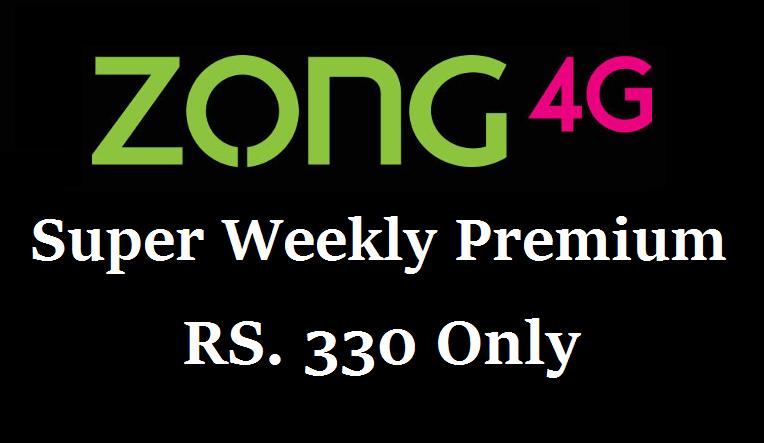 zong super weekly premium code