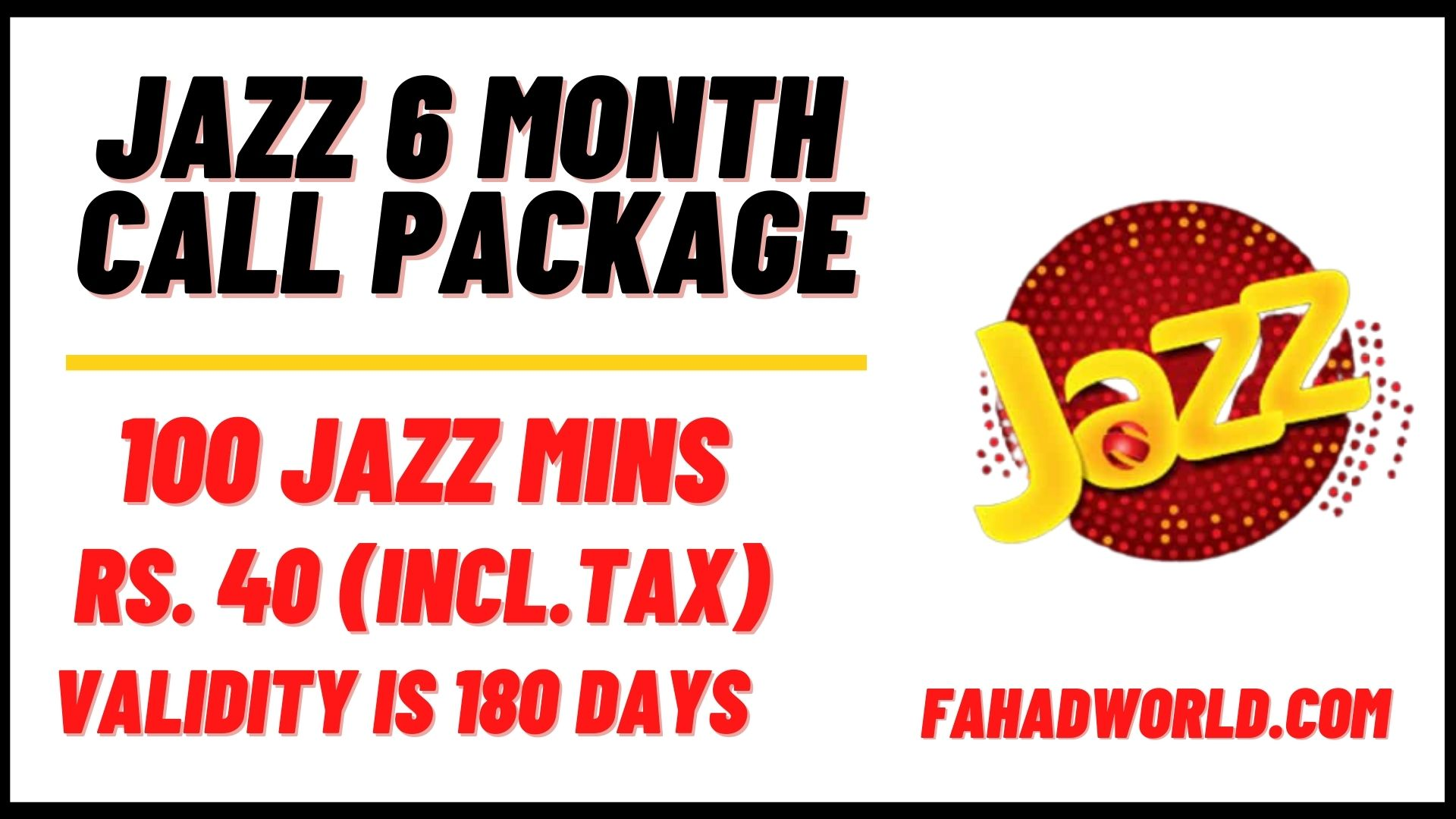 jazz 6 month call package