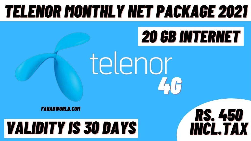 Telenor Monthly Net Package