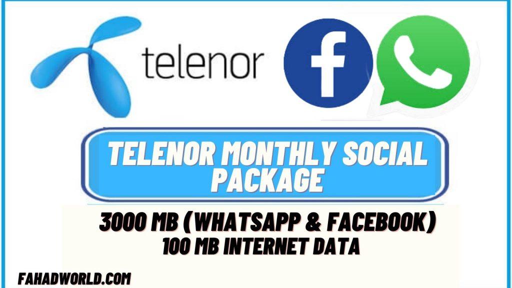 Telenor Monthly Social Package