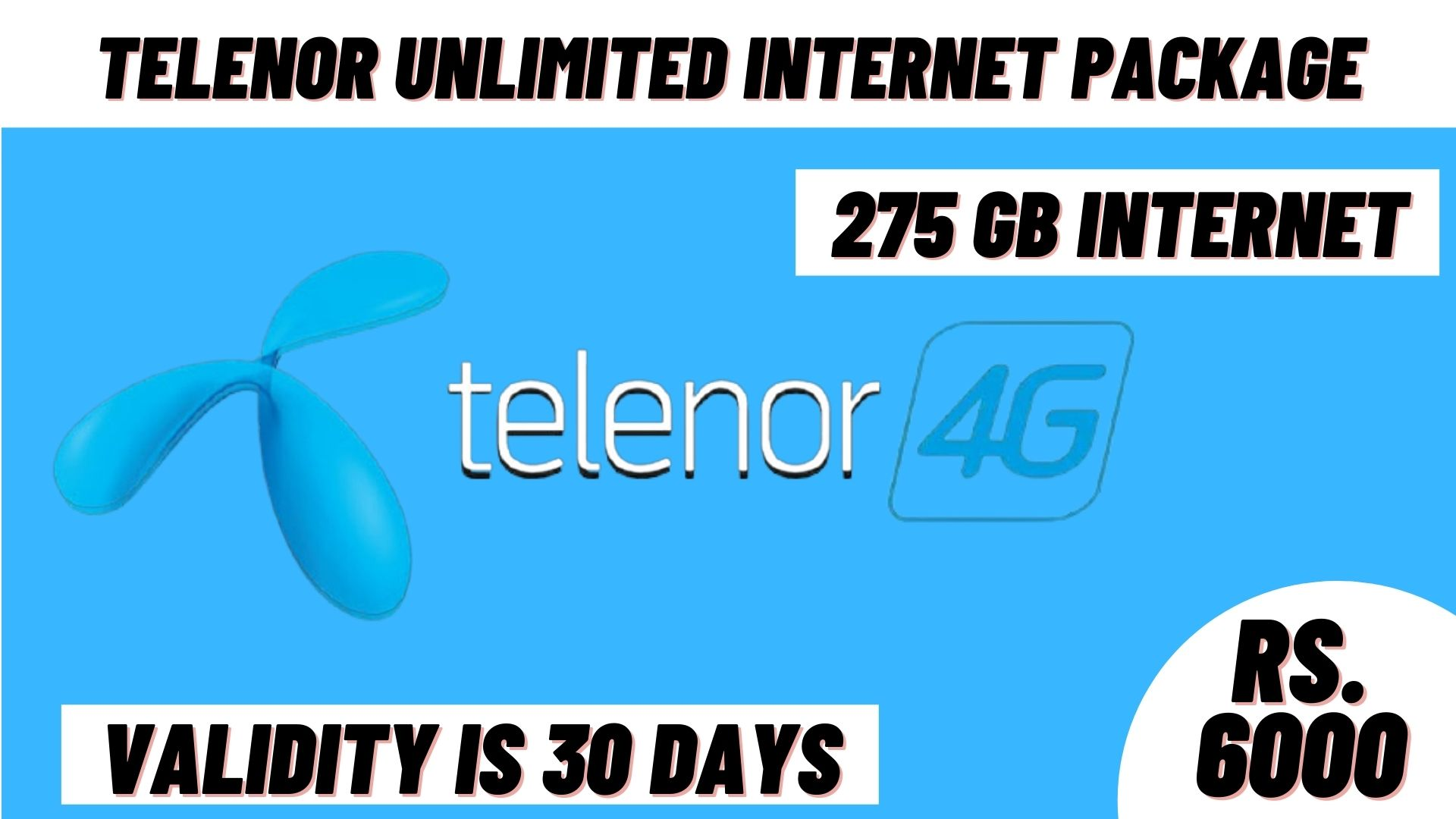 telenor unlimited internet package