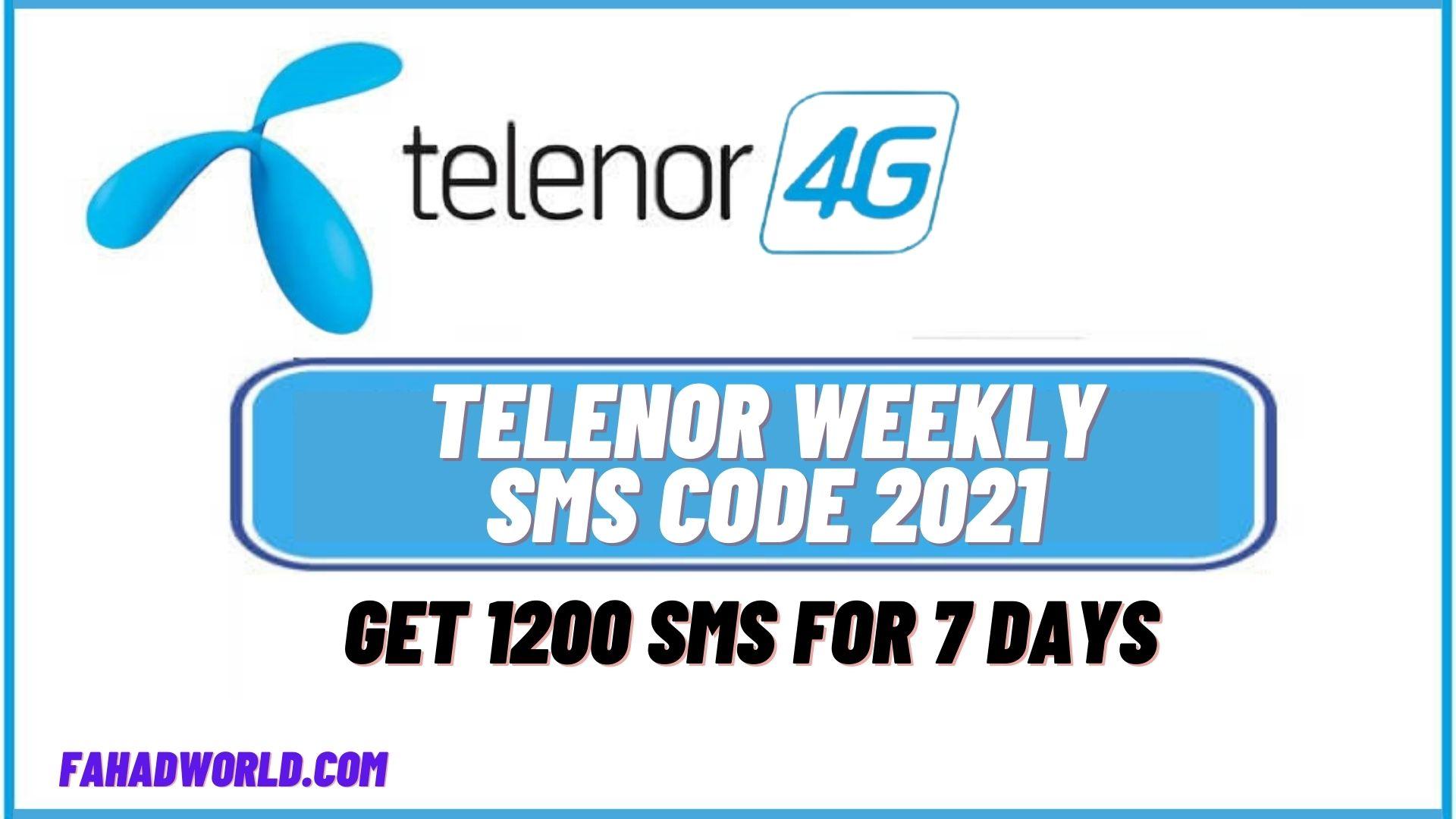 telenor weekly sms code