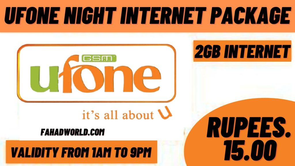 ufone night internet package