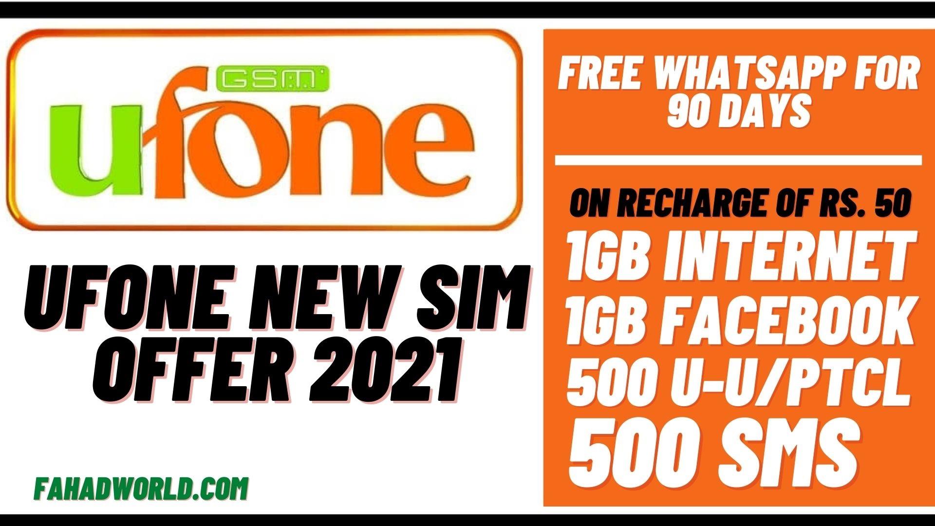 ufone new sim offer