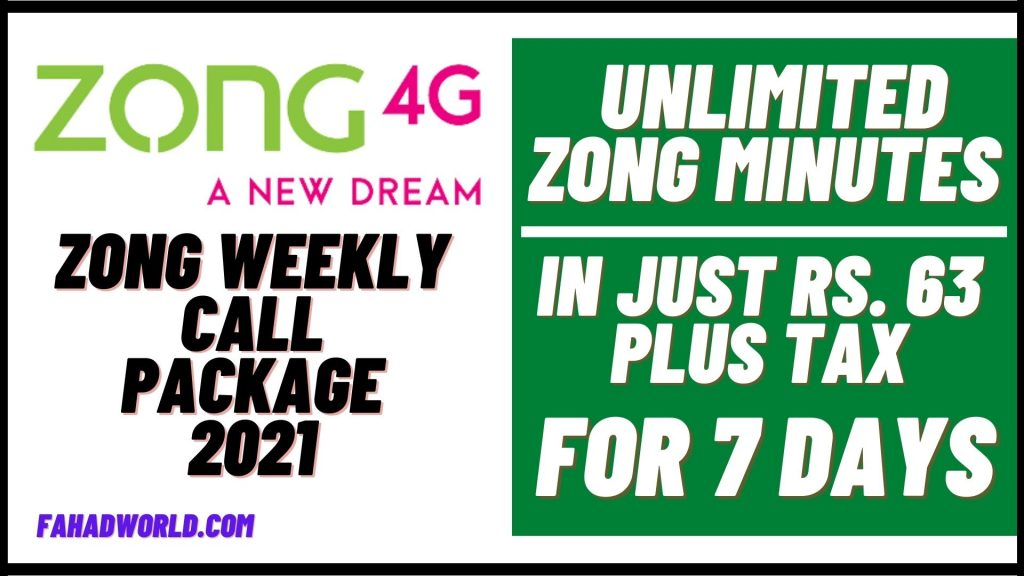 zong weekly call package